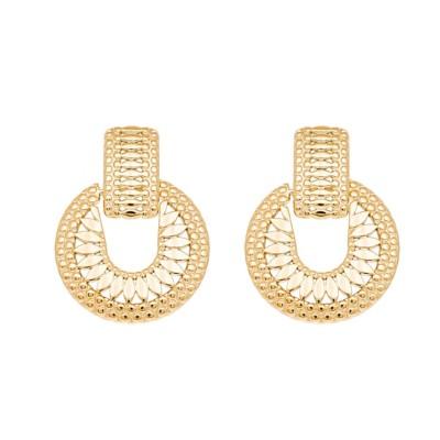 Boucles d'oreilles aztèque ethnique (doré)