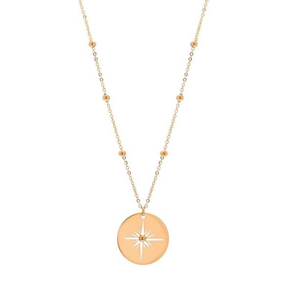 Collier médaille étoile ajourée (doré)
