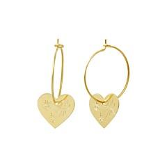 Boucles créoles cœur talisman (doré), Les Dissonances