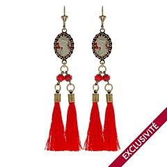 Boucles d'oreilles Babushka (rouge)