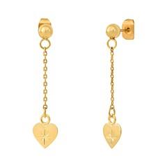 Boucles d'oreilles pendantes cœur étoile filante (doré), Les Dissonances