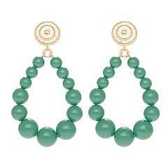 Boucles d'oreilles vintage perles (jade), Viadoli