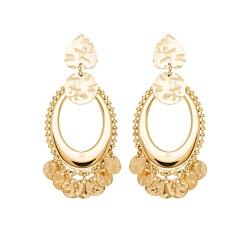Boucles d'oreilles orientales et pampilles (doré)