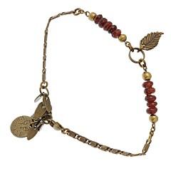 Bracelet tige (grenat)