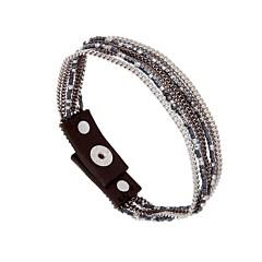 Bracelet multi-chaines et perles (hématite/gun), Sev Sevad