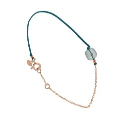 Bracelet Reverso Turquoise (plaqué or rose), Senzou