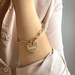 Bracelet maillon breloque à composer (plaqué or ou argent), Atelier de famille