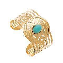 Bracelet manchette Inca Amazonite (doré), Laëti Trëma