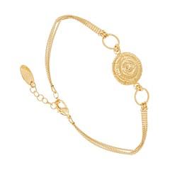 Bracelet médaille escargot (doré), Viadoli