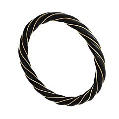 Bracelet torsade noir (plaqué or), LA2L