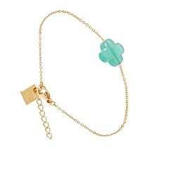 Bracelet Trèfle aqua (doré jaune), Zag bijoux