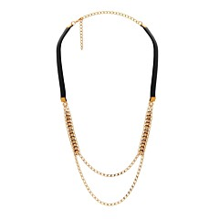collier-chaines-perles-dore-cuir