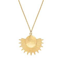 Collier médaille gravée coeur et flèche (doré), Les Dissonances