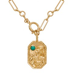 Collier maillons et carte egyptienne (turquoise)