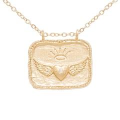 Collier pendentif coeur (doré)