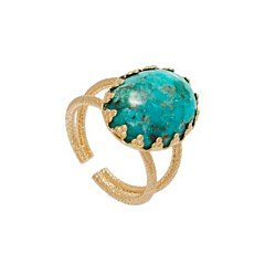 Bague xxl cabochon pierre (turquoise), Les Folies d'Agnès