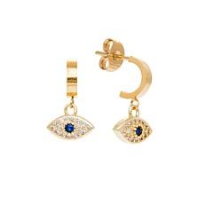 Puces d'oreilles œil zircon (lapis lazuli)