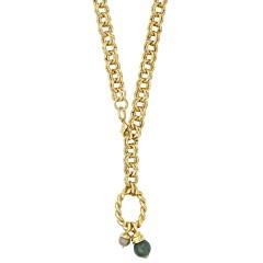 Sautoir anneaux et amulette